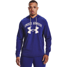 UA Rival Terry Big Logo Hoodie,  Regal/Onyx White