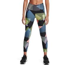 UA HeatGear Geo Print 7/8 Women's Leggings, Black/Nova Blue