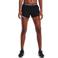 UA Play Up 3.0 Geo Women's Shorts, Black/Nebula Purple