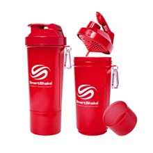 SmartShake Slim Neon Red, 500 ml