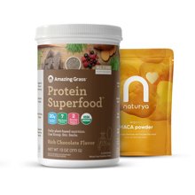 Protein Superfood, Chocolate, 360g + Organic Maca, 125 g GRATIS