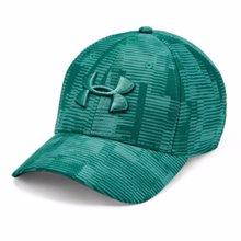 UA Printed Blitzing 3.0 Stretch Fit Cap, Green