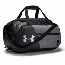 UA Undeniable 4.0 Small Duffle Bag, Graphite/Black