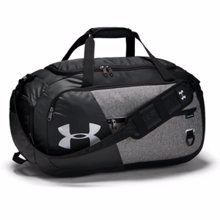 UA Undeniable 4.0 Medium Duffle Bag, Graphite/Black