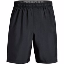 UA Woven Graphic Training Shorts, Black/Grey