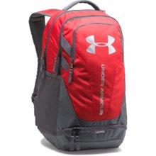 UA Hustle 3.0 Backpack, Red/Graphite