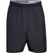 UA Woven Graphic Wordmark Shorts, Black/Gray