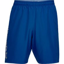 UA Woven Graphic Wordmark Shorts, Royal/Steel