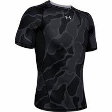 UA HeatGear Armour Men's Short Sleeve Shirt, Black