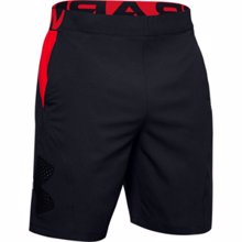 UA Vanish Woven Graphic Shorts, Black/Red
