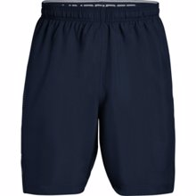 UA Woven Graphic Training Shorts, Navy/Grey