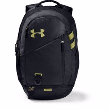 UA Hustle 4.0 Backpack, Black/Hushed Green