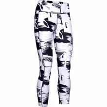 UA HeatGear Armour Printed Women's Ankle Crop, Black/White