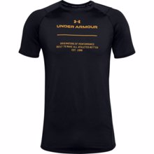 UA MK-1 Originators Graphic Short Sleeve Shirt, Black/Golden Yellow