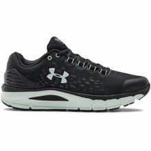 UA Charged Intake 4 Women's Running Shoes, Black/White/Seaglass Blue