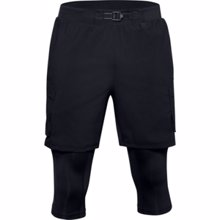 UA Run Anywhere 2-in-1 Long Shorts, Black