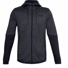 UA Double Knit Full Zip Hoodie, Grey/Black