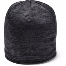 UA Storm Fleece Beanie, Black/Jet Grey