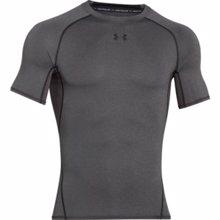 UA HeatGear Armour Short Sleeve Compression Shirt, Carbon Heather