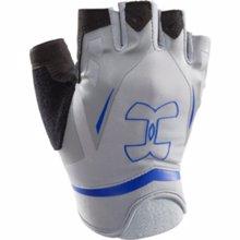 UA Flux Half-Finger Training Gloves, Steel/Royal