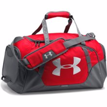 UA Undeniable 3.0 Small Duffle, Red/Graphite