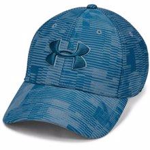 UA Printed Blitzing 3.0 Stretch Fit Cap Blue