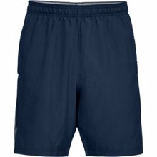 UA Woven Graphic Wordmark Shorts, Academy/Graphite