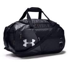 UA Undeniable 4.0 Small Duffle Bag, Black/Silver