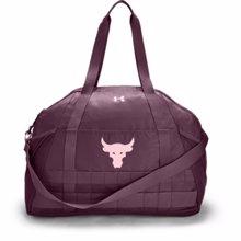 UA Project Rock Women's Gym Bag, Level Purple/Rosewater