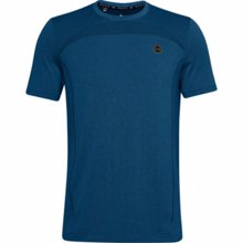 UA Rush Seamless Fitted Short Sleeve T-Shirt, Graphite Blue