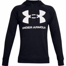 UA Rival Fleece Big Logo Hoodie, Black/Onyx White