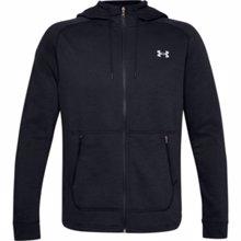 UA Charged Cotton Fleece Full Zip Hoodie, Black