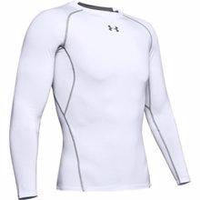UA HeatGear Armour Long Sleeve Compression Shirt, White