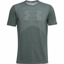 UA Seamless Logo Short Sleeve T-Shirt, Lichen Blue/Halo Grey