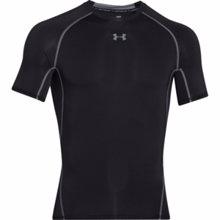 UA HeatGear Armour Short Sleeve Compression Shirt, Black