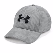 UA Printed Blitzing 3.0 Stretch Fit Cap, Grey