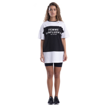 Femme D'influence Dress Tee, Black