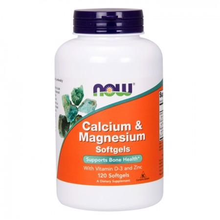 Calcium & Magnesium + D-3 + Zinc, 120 kapsul
