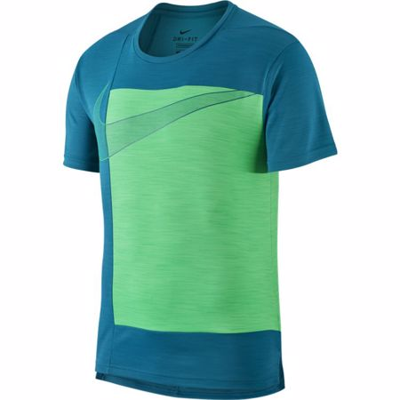 Nike Superset Graphic SS Shirt, Bright Spruce/Green Spark