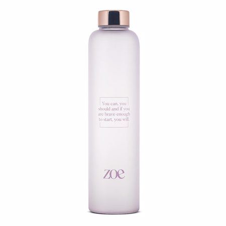 Zoe Zitat Glasflasche, Lila, 750 ml