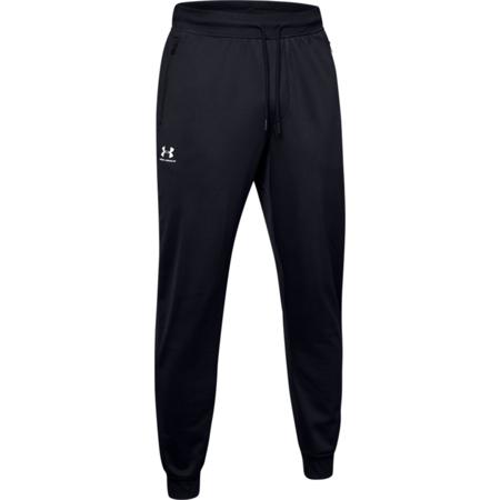 UA Sportstyle Tricot Pants, Black/White