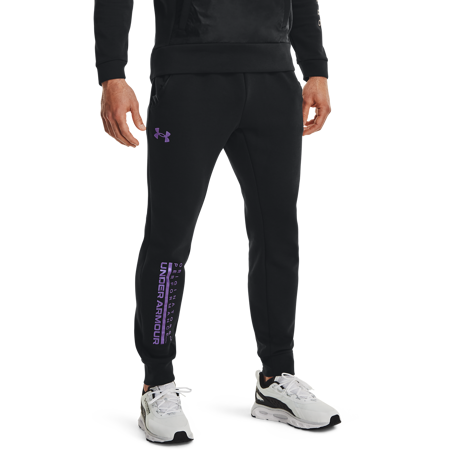 UA Summit Knit Pants, Black/Planet Purple