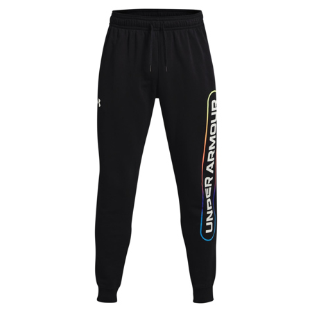 UA Rival Fleece Lockertag Pants, Black/Onyx White