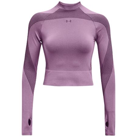 UA Women's Rush Seamless Long Sleeve T-Shirt, Polaris Purple/Black