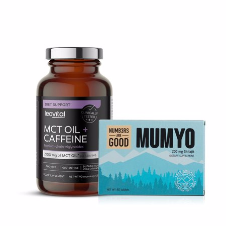 Mumyo, 200 mg, 60 tablet + MCT Oil + Caffeine, 90 kapsul GRATIS