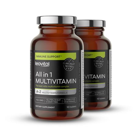 All in 1 Multivitamin, 90 Kapseln, Zweite 50% günstiger
