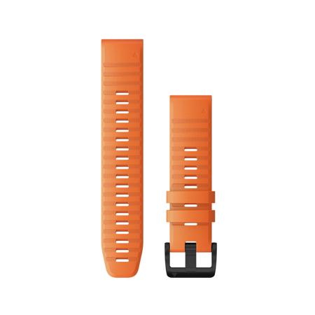 """Garmin Austauscharmband für Fenix 6, Silikon, Quick Fit 22"""", Ember Orange"""