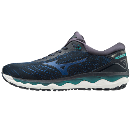 Mizuno Wave Sky 3 Shoes, Navy Blazer/True Blue/Lapis