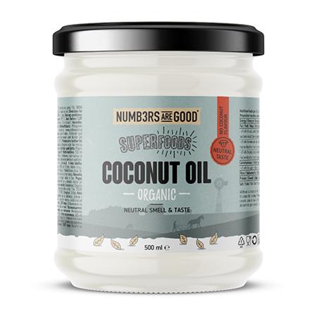 Organic Coconut Oil, Neutral taste, 500 ml