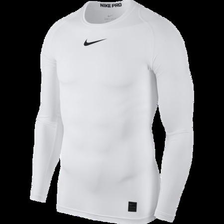 Nike Pro LS Compression Top, White